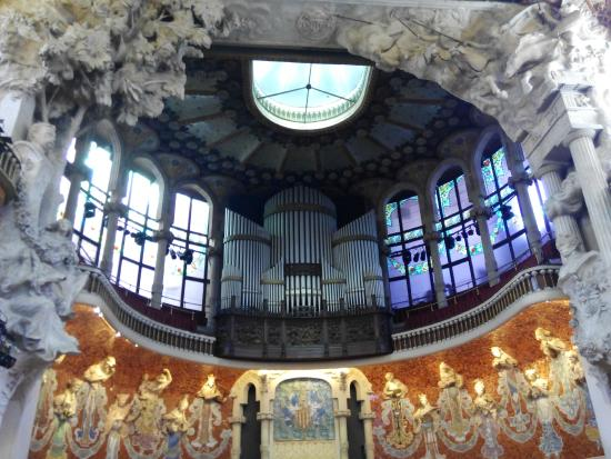 Palau de la Musica Orfeo Catala: Desde el patio de butacas