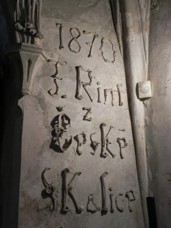 Ossuary / The Cemetery Church: Инициалы