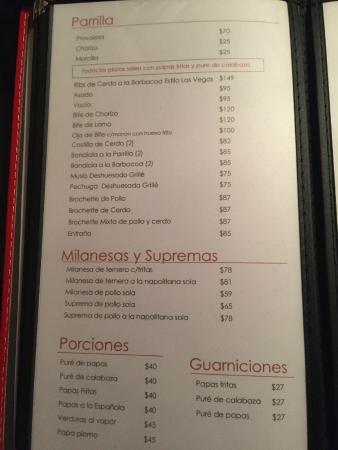 Lucinda Bar: Cardápio