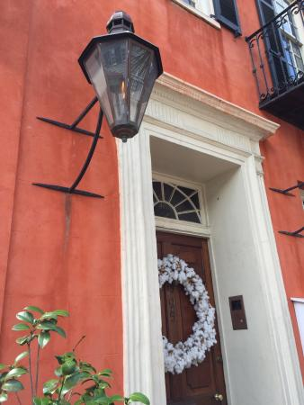 Charleston Footprints Walking Tours: wreath made from cotton