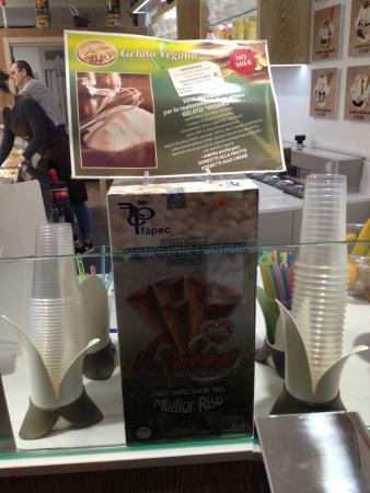 Gellateria Al Pozzo: Info on the vegan/gluten-free cones