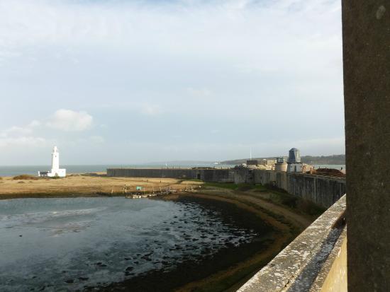 Hurst Castle: view over keyhaven