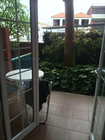 Hacienda San Jorge: Terrasse Zimmer 213B
