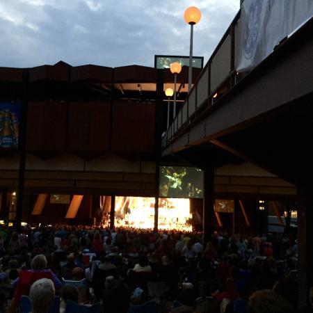 Saratoga Performing Arts Center: SPAC at nightfall