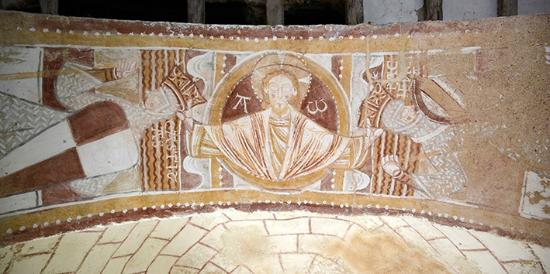 St Gilles Chapel: Fresque romane