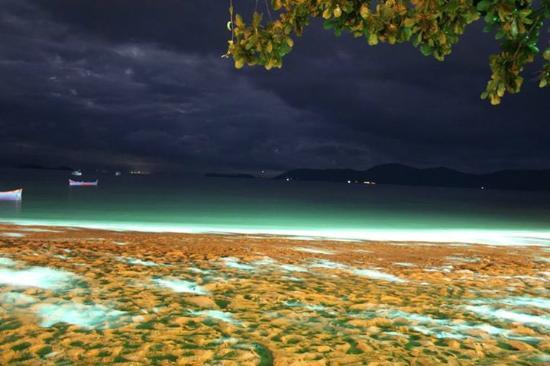 Pousada Refron du Mar: praia do pontal à noite, em frente à pousada