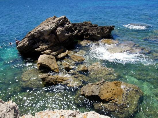 Spiaggia di Is Arutas: Il mare