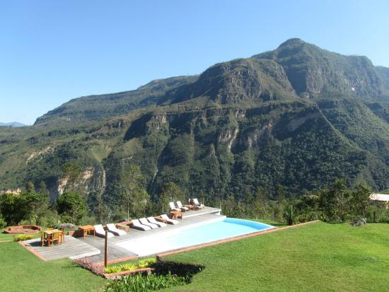 Gocta Andes Lodge: Vista desde una habitación del segunto piso