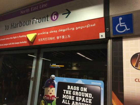 Singapore Mass Rapid Transit  (SMRT): Disabled signage