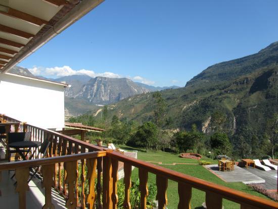 Gocta Andes Lodge: Vista desde la terraza de la habitación