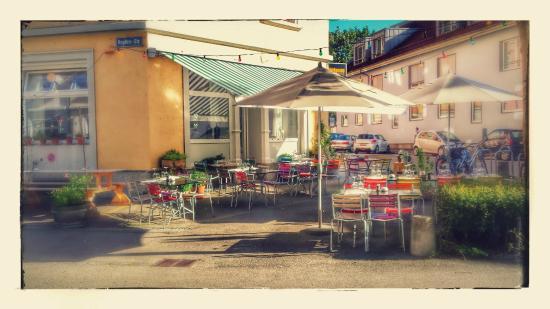 Hopfenau Quartier Restaurant: Terrasse soft