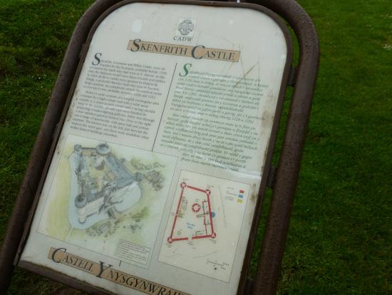 Skenfrith Castle: information sheet at castle