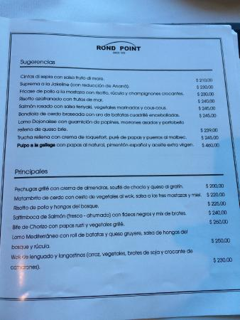 Rond Point: Menu