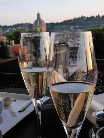 The Westin Excelsior Florence: View from roof top restaurant SE STO