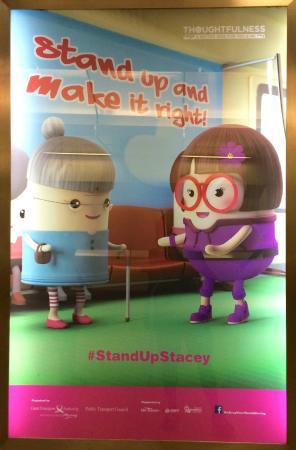 Singapore Mass Rapid Transit  (SMRT): a thoughtfulness campaign poster