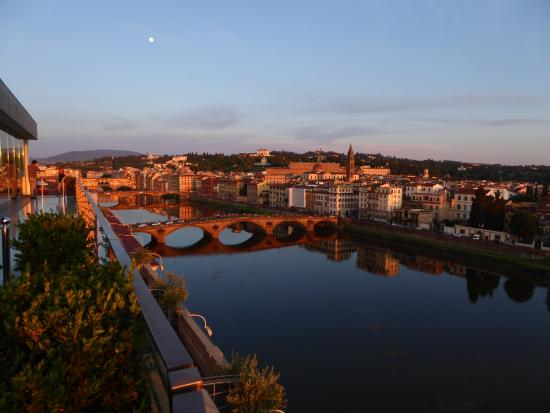 The Westin Excelsior Florence: Sunset views from the roof top restaurant SE STO