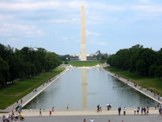 Vista dal Lincoln Memorial