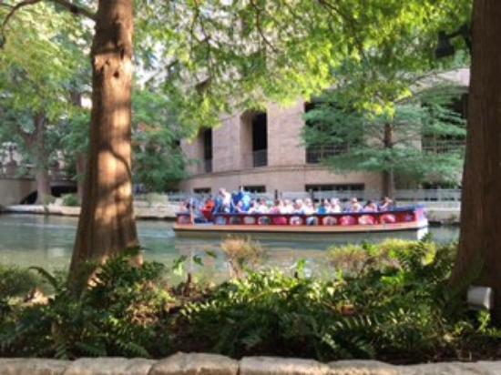 The Westin Riverwalk, San Antonio: Enjoying a glass of wine at the Westin
