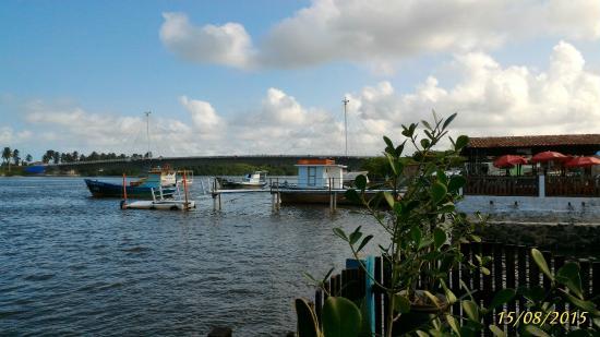 Restaurante Rota Do Mar: Vista para o rio Jaboatão