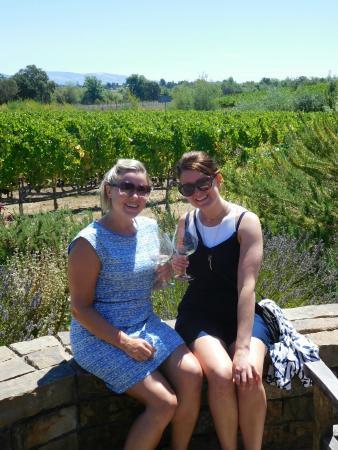 Lynmar Estate Winery: Overlooking the vineyard