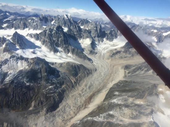 Rust's Flying Service: Flight over just one of many glaciers.