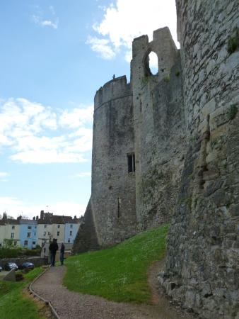 Raglan Castle: part of the amazing walls