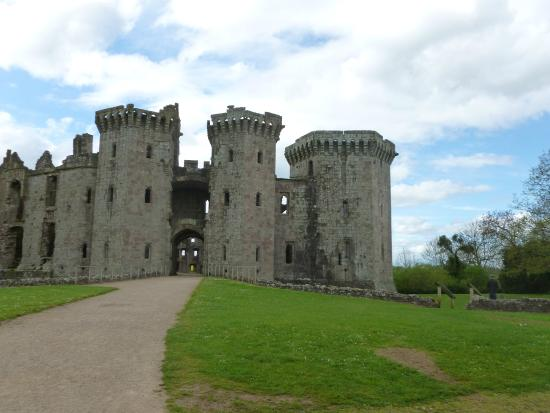 Raglan Castle: leading up to the castle