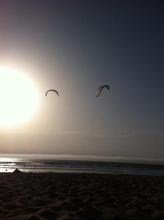 Cascais, Portugal: Kite Surf Guincho Beach at Sun Set