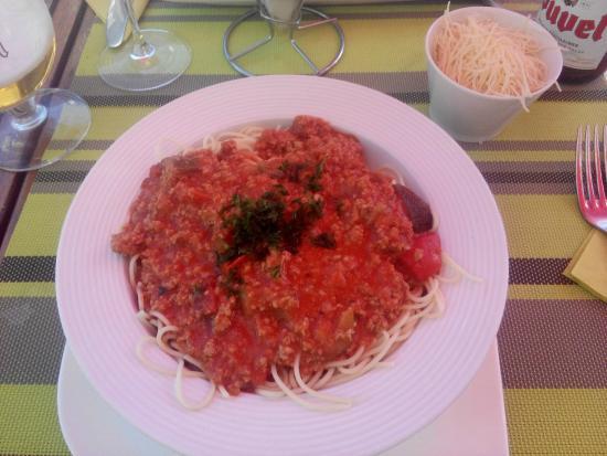J'ai trouve: Smaakloze waterige spaghetti (ziet er nochtans niet slecht uit...)