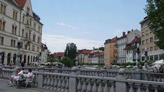 Ljubljana Old Town: bruggen