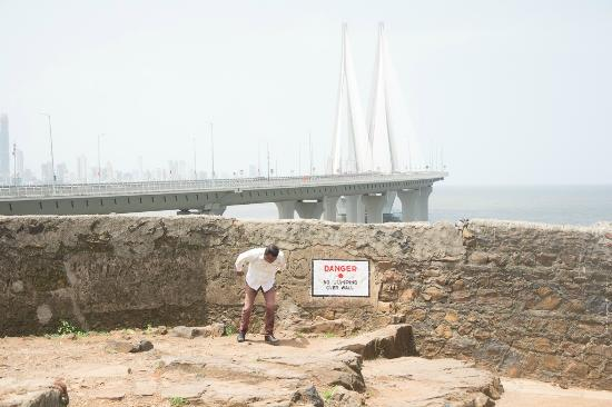 Bandra Fort: Viewing the sea link from the Fort