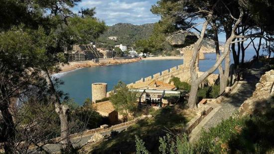 Castillo de Tossa de Mar: Vista desde arriba
