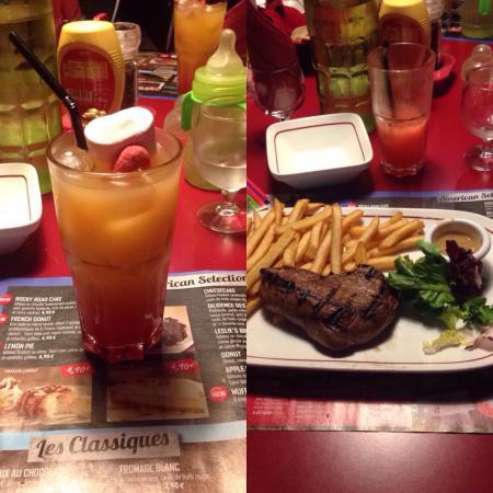 Buffalo Grill: Cocktail MIAMI Coeur de rumsteack frite 18,90€