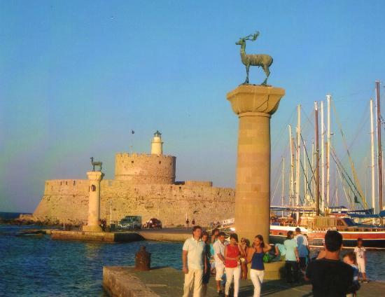Rodos by, Hellas: port de rhode