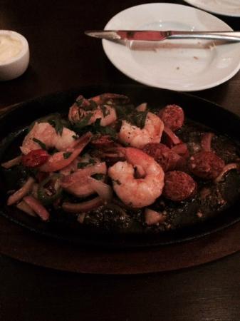 The Oak Tree Inn: Chorizo and Prawn Sizzler