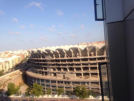 Ilunion Valencia 4: Vista desde el hotel