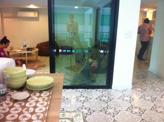 d Hostel Bangkok: Zona de comedor