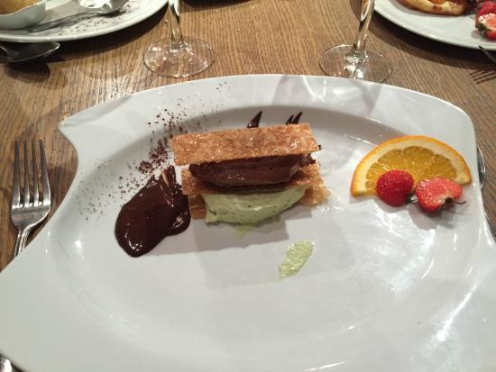 Burnel: Mille feuille chocolat pistache