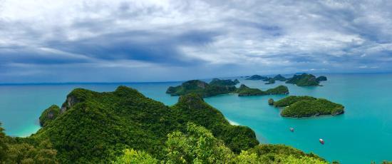 Mu Ko Ang Thong National Park: Même avec les nuages c'est beau