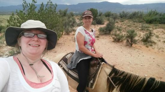 Cowboy Way Adventures: My friend and I on the horses
