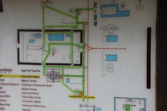 Angkor Thom: Site map