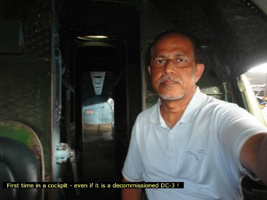 Indonesian Airforce Museum: In the cockpit of a DC-3 at the museaum