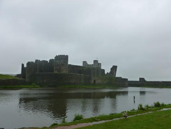 Caerphilly Castle: view from town