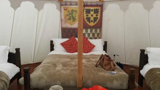 Warwick Castle: Inside our yurt