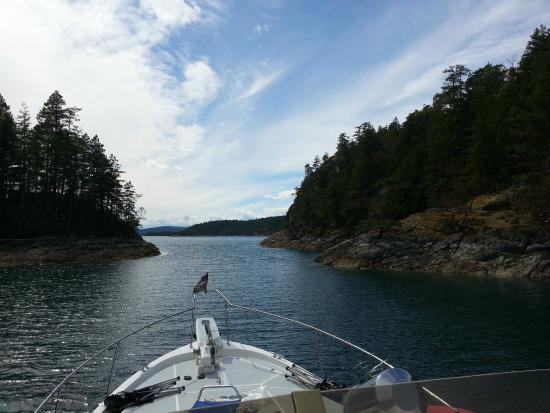 Pristine Charters: Desolation Sound narrow passage