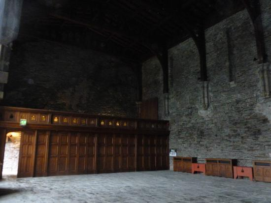 Caerphilly Castle: inside the great hall