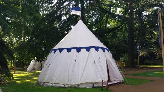 Warwick Castle: Outside our yurt