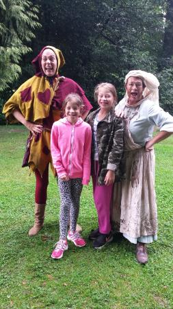 Warwick Castle: Everyone's favourite, Hester the Jester and Cookie the Cook