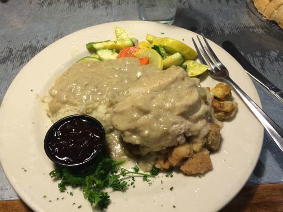 Archibald's Restaurant: turkey dinner