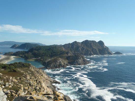 Islas Cies: Vista dall'alto del Principe
